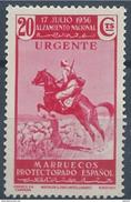 MA169STV-L4186TMA.Maroc.Marocco  .MARRUECOS ESPAÑOL ALZAMIENTO NACIONAL.URGENTE. 1937(Ed 185**) Sin Charnela MAGNIFICO - Marruecos (1956-...)