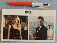 """Carte Parfumée Hugo Boss """"Nuit Pour Femme"""" + """"Boss Bottled Pour Homme"""" - 2014 - Perfume Cards"""