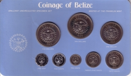 BELIZE - Mint Set 1983 FM - KM#MS10 Including KM# 71, 83, 84, 85, 86, 87, 88, 89 [Eight Rare Types] - Belize