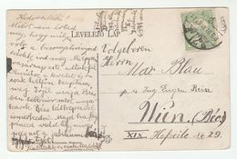 1910 HUNGARY Stamps COVER (postcard BUDAPEST Petofi Ter) - Covers & Documents