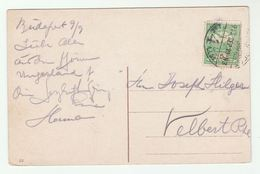 1913 HUNGARY Stamps COVER (postcard BUDAPEST Bridge) - Covers & Documents
