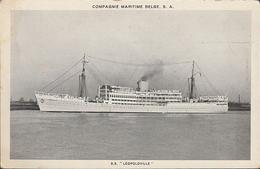 S.S. Leopoldville Compagnie Maritime Belge - Paquebots