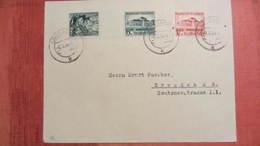 DR Bis 45: Fern-Doppel-Brief Mit 673/4 Gautheater Saarpfalz In MiF Mit  684 Aus Lörrach Nach Dresden Vom 8.12.38 - Deutschland