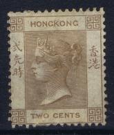 Hong Kong : Sg 8 B   Mi Nr 8   MH/* Falz/ Charniere  1863 Pale Yellowish Brown - Unused Stamps