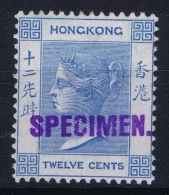 "Hong Kong : Sg 60s  Mi Nr 59 1900 WM CA Local Handstamped ""SPECIMEN"" Samuel HK4  With Gum - Unused Stamps"