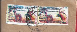 Stamps Double Impression Nigeria. Antelope Addax Sahara. Bovideo. Ruminant Mammal. Briefmarken Doppeldruck Nigeria. - Other