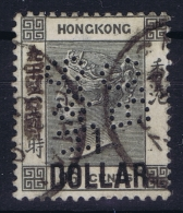 Hong Kong : Sg 42  Mi Nr 41 Gestempelt/used/obl. 1885  PERFIN - Used Stamps