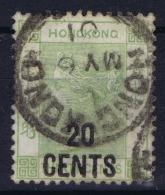 Hong Kong : Sg 45  Mi Nr 48 Ia Gestempelt/used/obl. 1891  Cv 240 Euro - Used Stamps