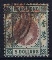 Hong Kong : Sg 75 Mi 74  Gestempelt/used/obl. 1903  5 Dollar - Hong Kong (...-1997)