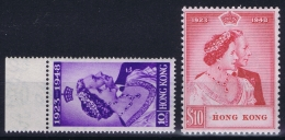 Hong Kong : Sg 171 - 172  Mi  171 - 172   $ 10 = MH/* Falz/ Charniere  10 C =MNH/**/postfrisch/neuf Sans Charniere - Unused Stamps