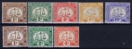 Hong Kong  1923 Postage Dues  D1 - D5 +  1  + 2 + 4 Cent Wm Sideways MH/* Falz/ Charniere - Hong Kong (...-1997)
