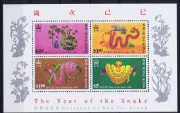 Hong Kong  Mi  Block Nr 11  1989  MNH/**/postfrisch/neuf Sans Charniere  Year Of The Snake - Hong Kong (...-1997)