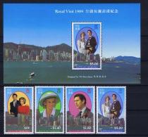 Hong Kong  Mi  Block Nr 12  1989 MNH/**/postfrisch/neuf Sans Charniere   + Mi 577-580 MH/* Falz/ Charniere - Blocks & Sheetlets
