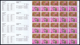 Hong Kong : 1989 Year Of The Snake 4 Attached Booklets As Issued Mi Nr 555 - 557 MNH/**/postfrisch/neuf Sans Charniere - Hong Kong (...-1997)