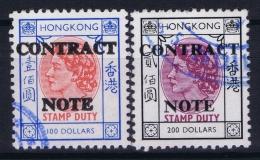 Hong Kong : Revenue Stamp Contract Note B 347 + 348 Used - Hong Kong (...-1997)