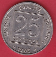 France 25 Centimes IIIe République 1903 - F. 25 Centesimi
