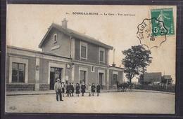 CPA 92 - BOURG-LA-REINE - La Gare - Vue Extérieure - TB PLAN Edifice Ferroviaire TB ANIMATION Attelage Oblitération - Bourg La Reine