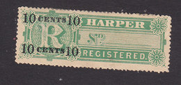 Liberia, Scott #F7, Mint Hinged, Registration Stamp Surcharged, Issued 1894 - Liberia