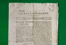 D-IT Giornale Italiano MILANO 1813 -periodo Regno D'Italia Di Napoleone - Documents Historiques