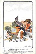 Cpa Pub : Automobile, Huile Rigal …, Signée Thor - Pubblicitari