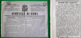 D-IT Giornale Di Roma 1864 Stato Pontificio - Garibaldi Cospira In Europa - Documents Historiques