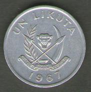 CONGO 1 LIKUTA 1967 - Congo (Repubblica 1960)