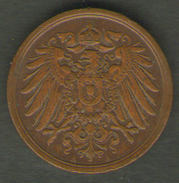 GERMANIA 2 PFENNIG 1912 - [ 2] 1871-1918 : Impero Tedesco