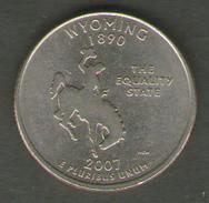 STATI UNITI QUARTER DOLLAR 2007 WYOMING - 1999-2009: State Quarters
