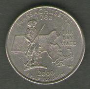 STATI UNITI QUARTER DOLLAR 2000 MASSACHUSETTS - 1999-2009: State Quarters