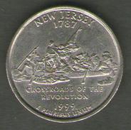 STATI UNITI QUARTER DOLLAR 1999 NEW JERSEY - Emissioni Federali