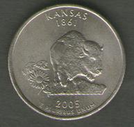 STATI UNITI QUARTER DOLLAR 2005 KANSAS - 1999-2009: State Quarters