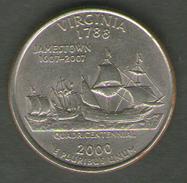STATI UNITI QUARTER DOLLAR 2000 VIRGINIA - Emissioni Federali