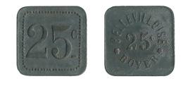 N2970 - Paris: Bellevilloise Boyer: 25 Ct - Monetari / Di Necessità