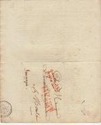 LAC Conseiller D'état Enregistrement Et Domaines Affranchi Par L'état Pour Mons Jemmapes Jemappes 1809 - Poststempel (Briefe)