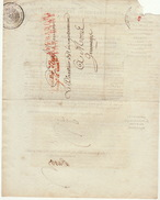 LAC Conseiller D'état Enregistrement Et Domaines Affranchi Par L'état Pour Mons Jemmapes Jemappes 1809 - Postmark Collection (Covers)
