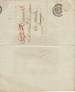 LAC Conseiller D'état Enregistrement Et Domaines Affranchi Par L'état Pour Mons Jemmapes Jemappes 1809 - Marcofilia (sobres)