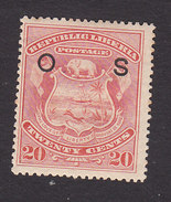 Liberia, Scott #O39, Mint Hinged, Coat Of Arms Overprinted, Issued 1898 - Liberia