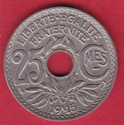 France 25 Centimes Lindauer 1915 - F. 25 Centesimi