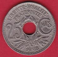 France 25 Centimes Lindauer 1918 - F. 25 Centesimi