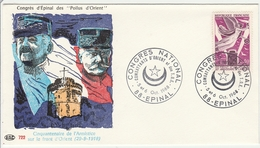 Epinal 1968 - BT Congrès National Combattants D'Orient - Croissant - Marcophilie (Lettres)