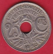 France 25 Centimes Lindauer 1920 - F. 25 Centesimi