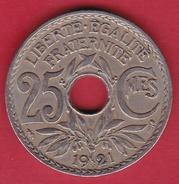 France 25 Centimes Lindauer 1921 - F. 25 Centesimi