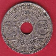 France 25 Centimes Lindauer 1922 - F. 25 Centesimi