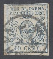Parma 1857 40c Azzurro  Nº 11b Catalog Value 1100€ - Parma