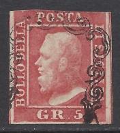 Sicilia 1859 5Gr Rosa Carminio Nº 9 Catalog Value 1200€ - Sicilia