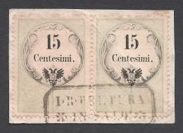 Lombardo Veneto 1854 Marche Da Bollo Per Posta 15c  Nº 3Catalog Value 425€ - Lombardo-Vénétie