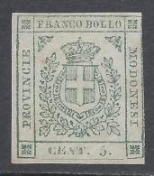 Modena 1859 5c Verde  Nº 12 Catalog Value 600€ - Modène