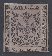 Modena 1853 9c BG  Nº 2 Catalog Value 300€ - Modena