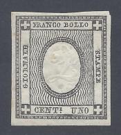 Sardegna 1861 1c Errori Di Cifra Nº 20l Catalog Value 1000€ - Sardinia