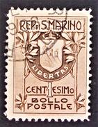 ARMOIRIES 1907 - OBLITERE - YT 47 - MI 47 - Saint-Marin